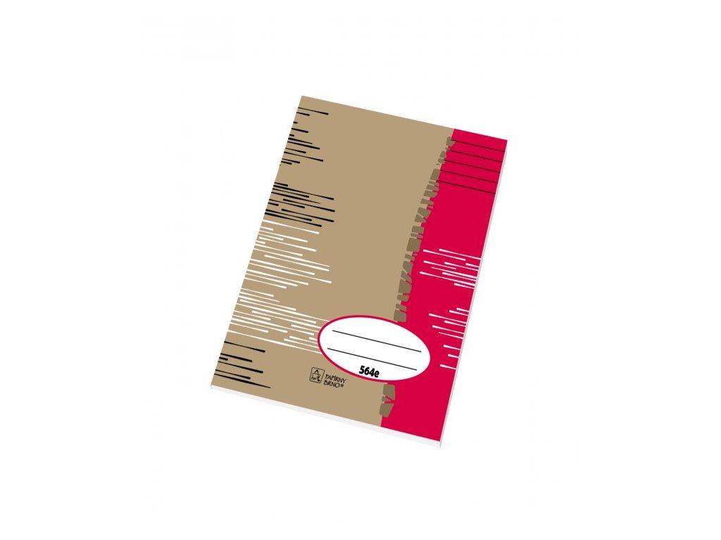 Školní sešit A5 564 linkovaný 60 listů