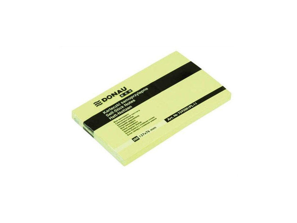 Samolepící bloček Donau 127x76 mm, žlutý 100 listků