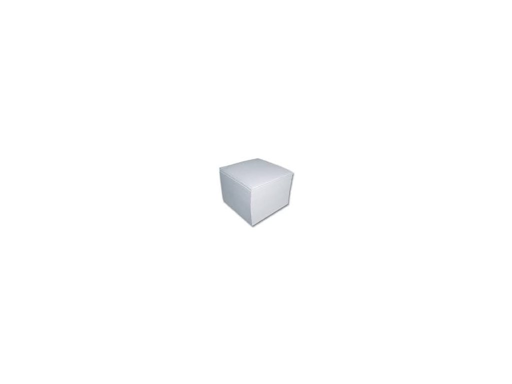 Záznamní kostka lepená EKO 9x9x9 cm bílá