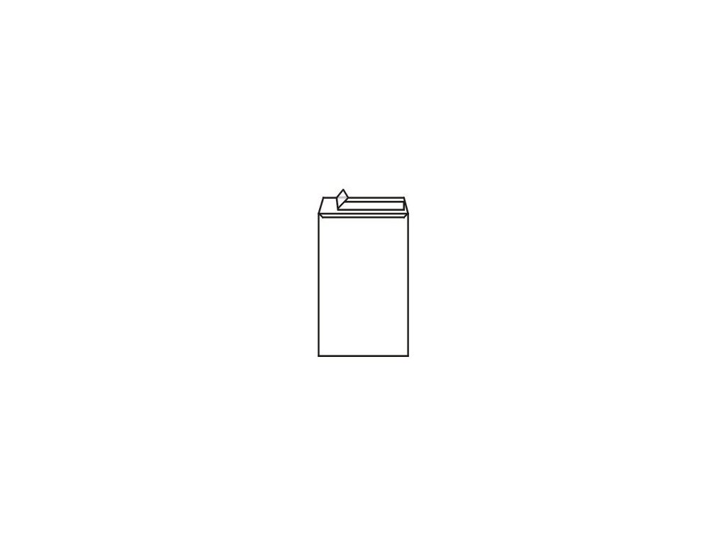 Obálky C4 taška - samolepící bílé s krycí páskou 50ks