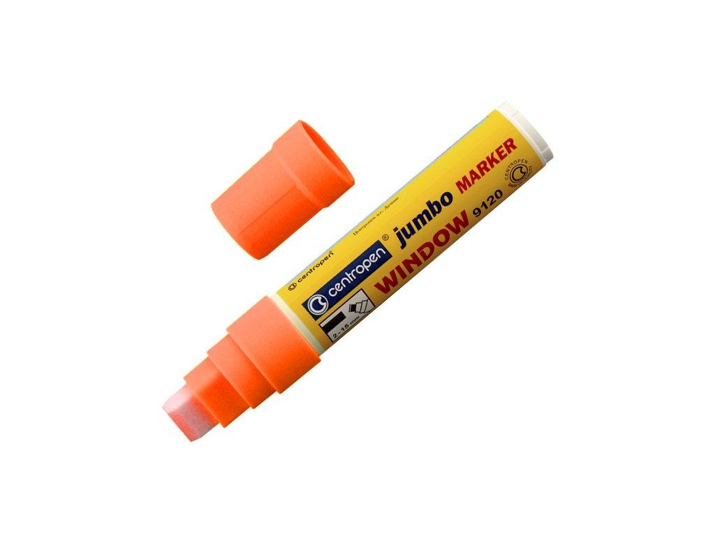 Popisovač Centropen 9120 Jumbo křídový 2-15mm, oranžový