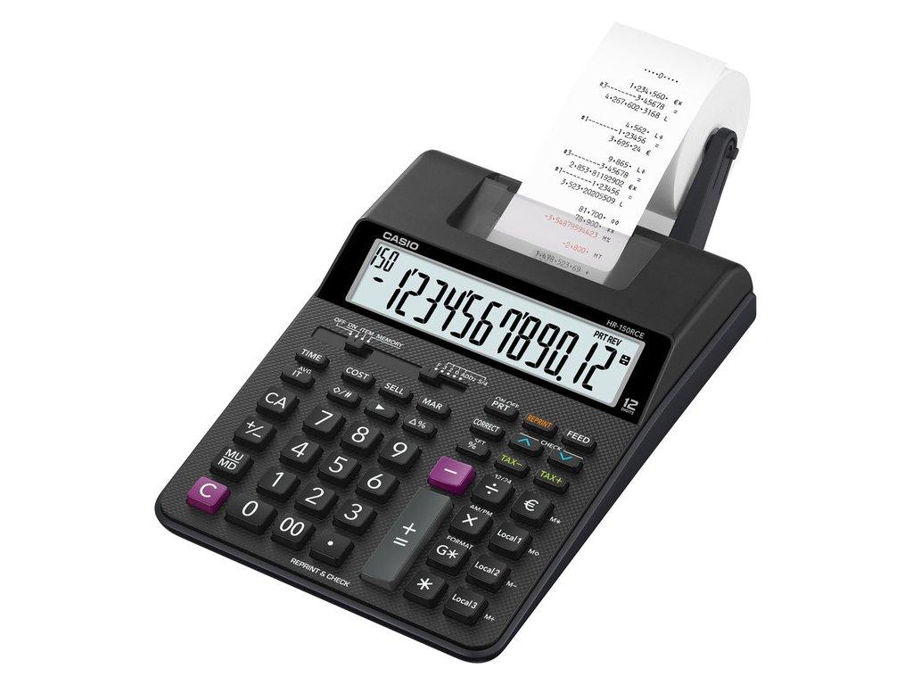 Kalkulačka Casio HR 150 RCE s tiskem