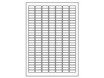 Samolepící etikety A4, 25,4x10 mm, 189ks arch hranaté 100l.