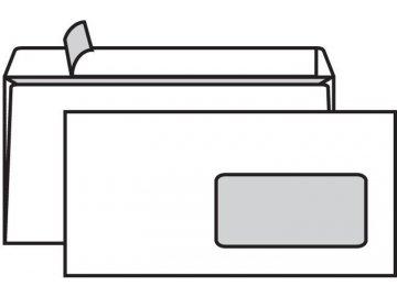 Obálky DL s okénkem samolepící bílé s krycí páskou 50ks