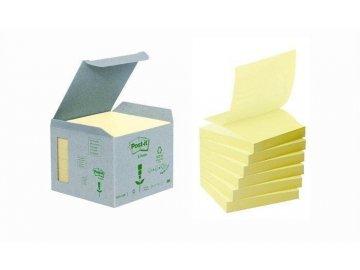 Samolepící bloček Post It 76x76 mm Z, 100l., žlutý, do zásobníku