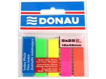 Samolepící záložky Donau 12x45 mm NEON 5 x 25 lístků
