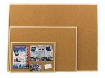 Korková tabule oboustranná 45x60 cm - dřevěný rám