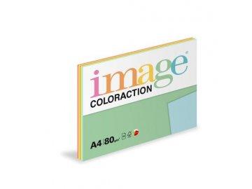 Barevný papír A4 80g  5x20l reflexn. odstíny