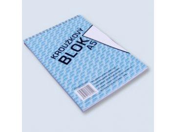 Blok Bobo A5 s horní spirálou čistý 50 listů