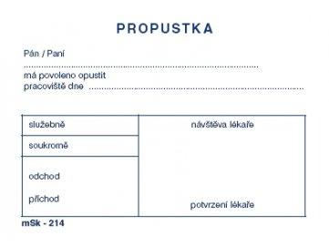 Propustka A7  msk 214