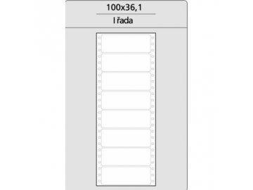 Tabelační etikety 100x36 mm - 1řadé MB (200 etiket)