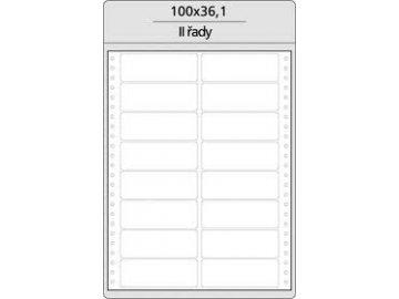 Tabelační etikety 100x36 mm -  2-řadé MB (400 etiket)