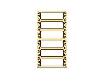 Tabelační etikety 102x36 mm  1-řadé (8000 etiket)