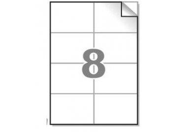Samolepící etikety A4, 105x74mm, 8ks/arch - hranaté 100l.