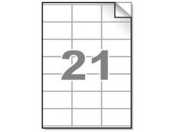 Samolepící etikety A4, 70x41mm, 21ks/arch - hranaté 100l.