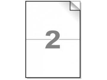 Samolepící etikety A4, 210x148 mm, 2ks/arch - hranaté 100l.