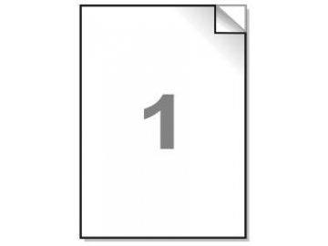 Samolepící etikety A4, 210x297 mm, 1ks/arch - hranaté 100l.