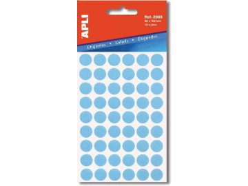 Etikety Apli kulaté 8mm modré, 288 etiket