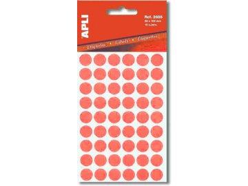 Etikety Apli kulaté 8mm červené 288 etiket