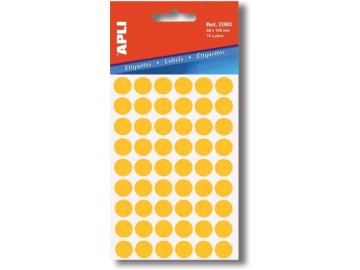 Etikety Apli kulaté 8mm žluté 288 etiket