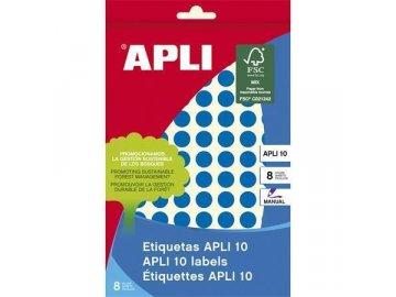 Etikety Apli kulaté 10mm modré 315 etiket