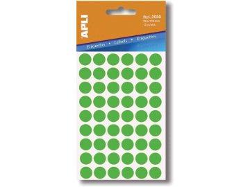Etikety Apli kulaté 10mm zelené 315 etiket