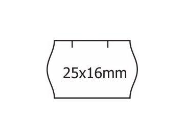 Etikety Contact 25 x 16mm bílé oblé