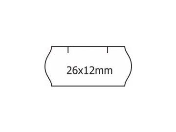 Etikety Contact 26 x 12mm bílé oblé