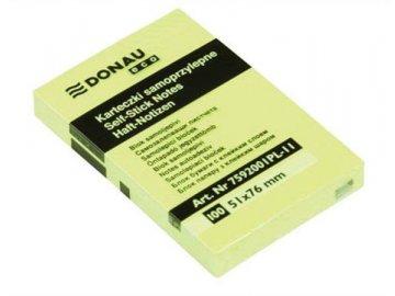 Samolepící bloček 50x75 mm žlutý 100 lístků