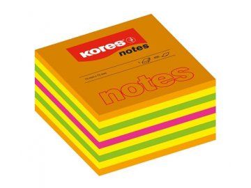 Samolepící bloček 75x75 mm Kores cubo mix barev 450 lístků