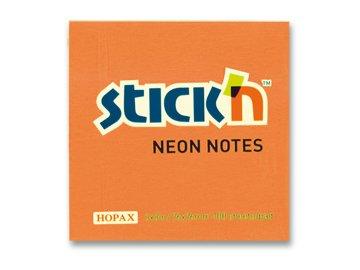 Samolepící bloček 75x75 mm oranžový NEON 100 lístků