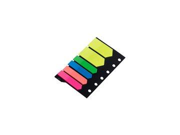 Samolepicí záložky 12x45mm, 5 x 25 listků - tvar šipky