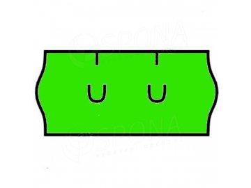 Etikety Uni 26 x 12mm zelené