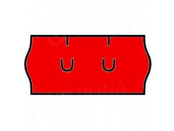 Etikety Uni 26 x 12mm červené