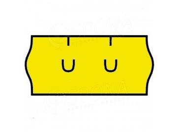 Etikety Uni 26 x 12mm žluté