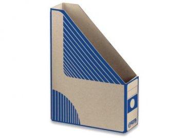Emba Magazin Box - kartonový, zkosený, modrý