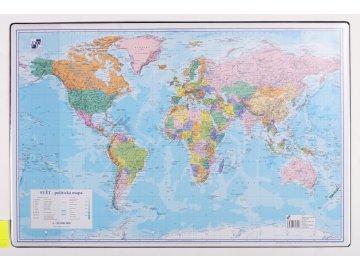 Podložka na stůl - mapa světa