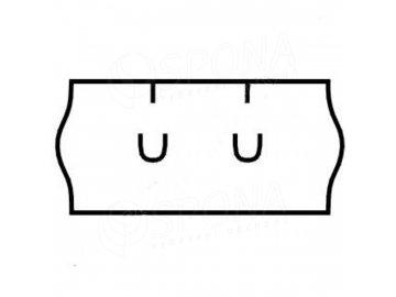 Etikety Uni 26 x 12mm bílé 1500 etiket