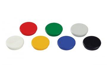Magnet kulatý 24 mm bílý