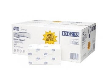 Papírové ručníky ZZ Tork Premium 100278, 2 vrstvy bílé