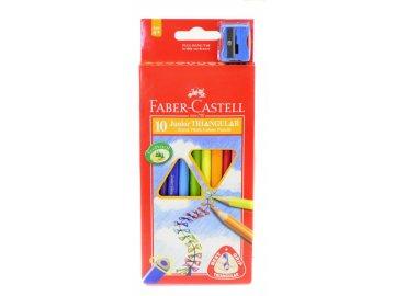 Pastelky Faber-Castell Triangular Jumbo 10ks + ořezávátko