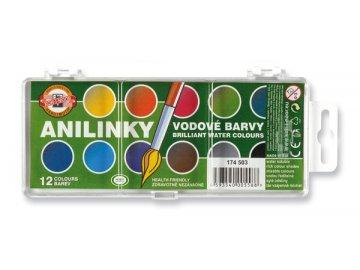 Vodové barvy KOH-I-NOOR Anilinky 12 barev