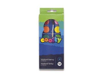Vodové barvy Coolty 12 barev, průměr 28mm