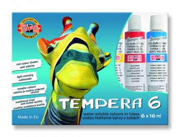 Temperové barvy KOH-I-NOOR 6ks, 16ml