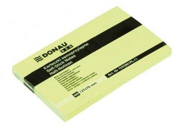 Samolepící bloček 76x127 mm Donau žlutý 100 listků