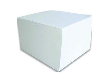 Kostka lepená 9x9x5 cm bílá