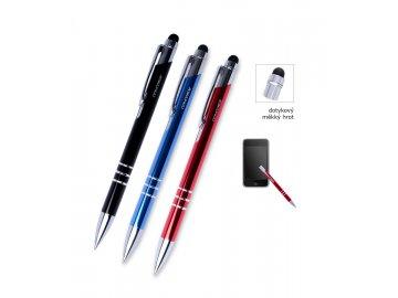 Pero kuličkové kovové CONCORDE Soft - dotykové - MIX barev