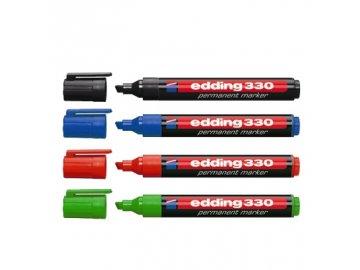 Popisovač Edding 330/4 permanent, sada 4 ks, 1-5 mm
