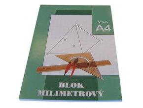 Milimetrový papír A4 - blok 50 listů