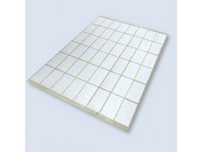 Samolepící etikety 50x25 mm, arch 48 etiket